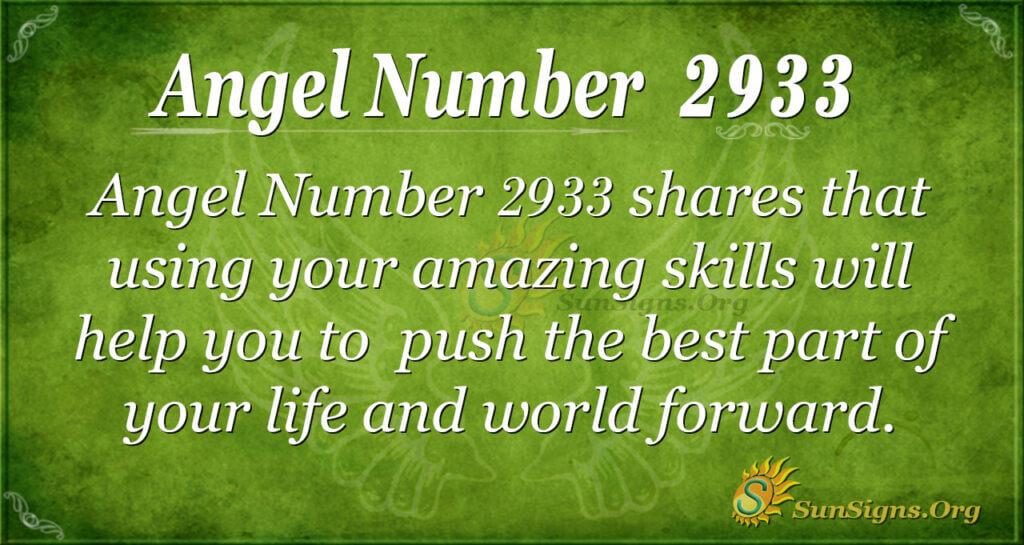 2933 angel number