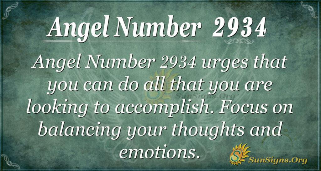 2934 angel number