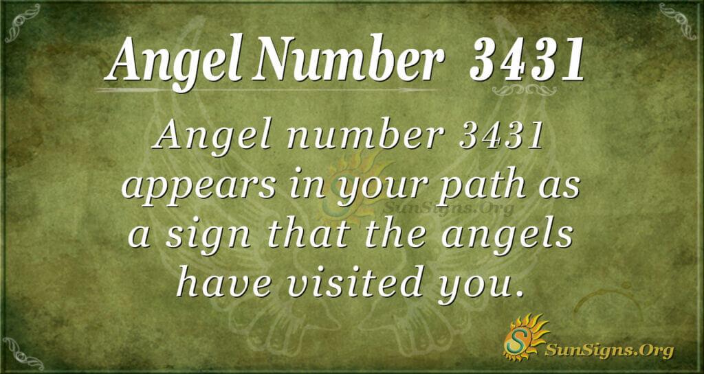 3431 angel number