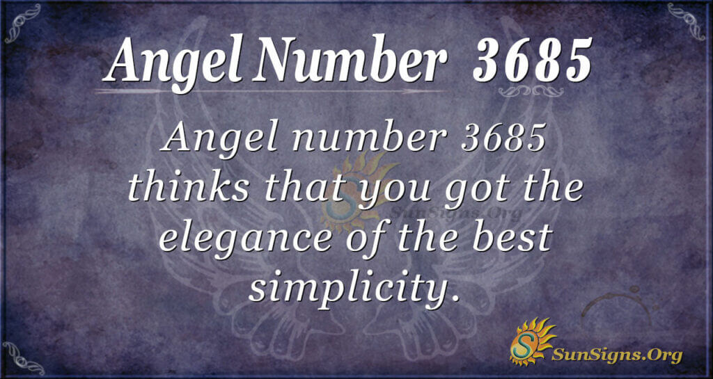 3685 angel number