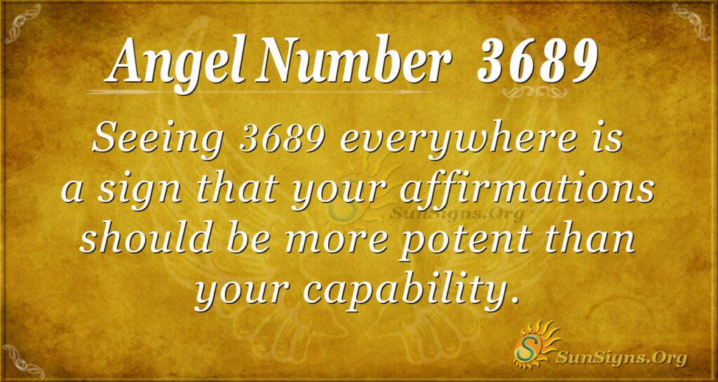 3689 angel number