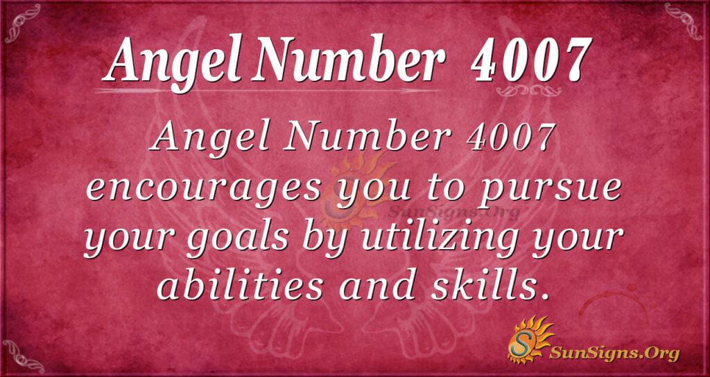 4007 angel number