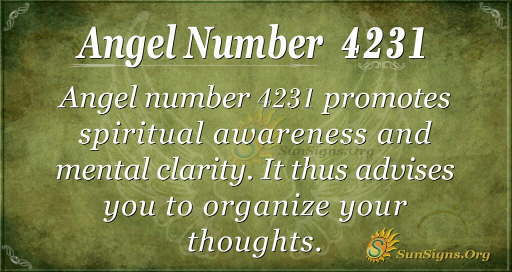 4231 angel number
