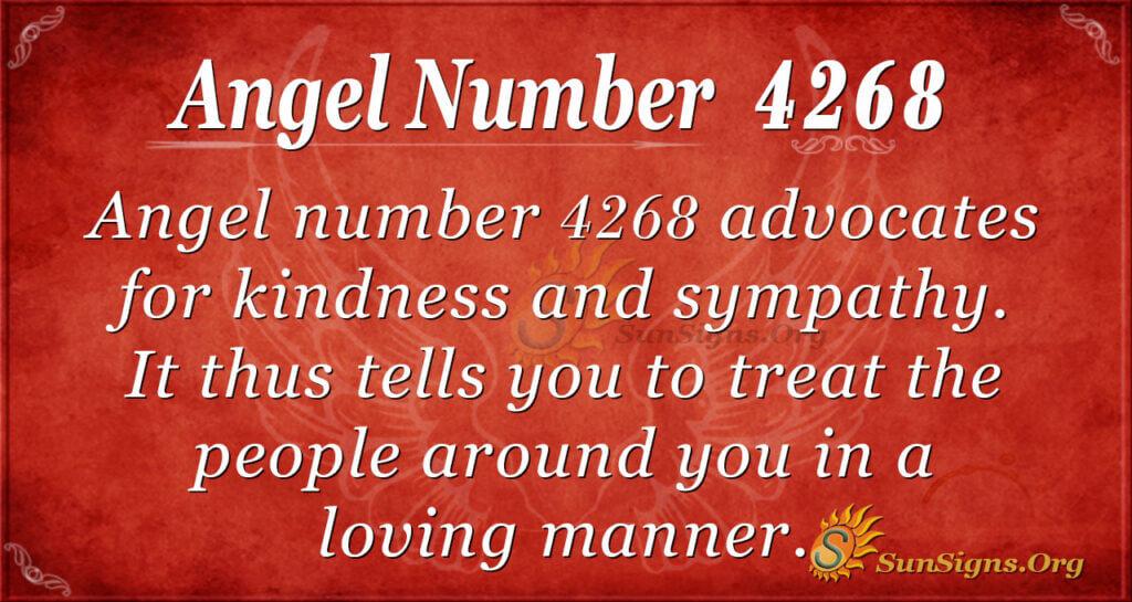 4268 angel number