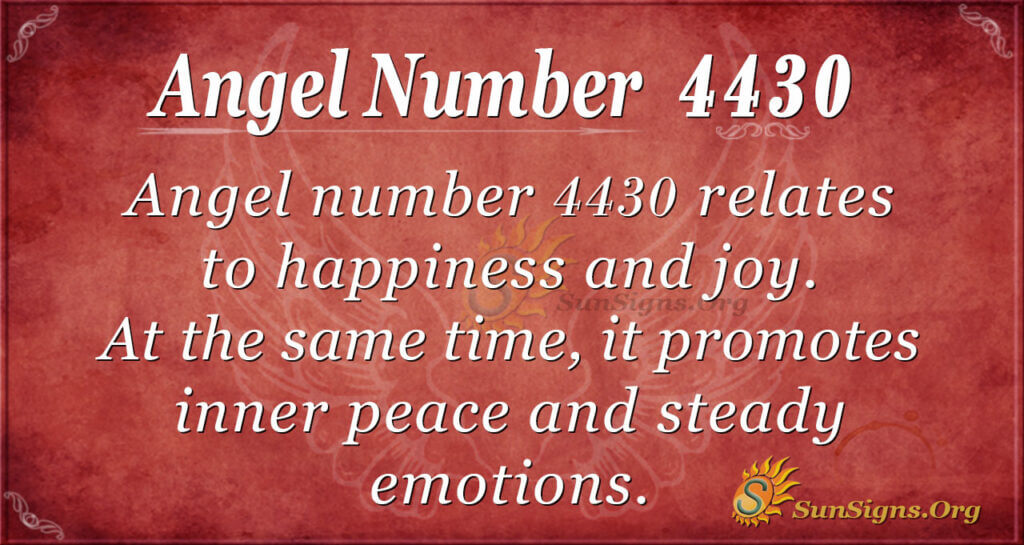 4430 angel number