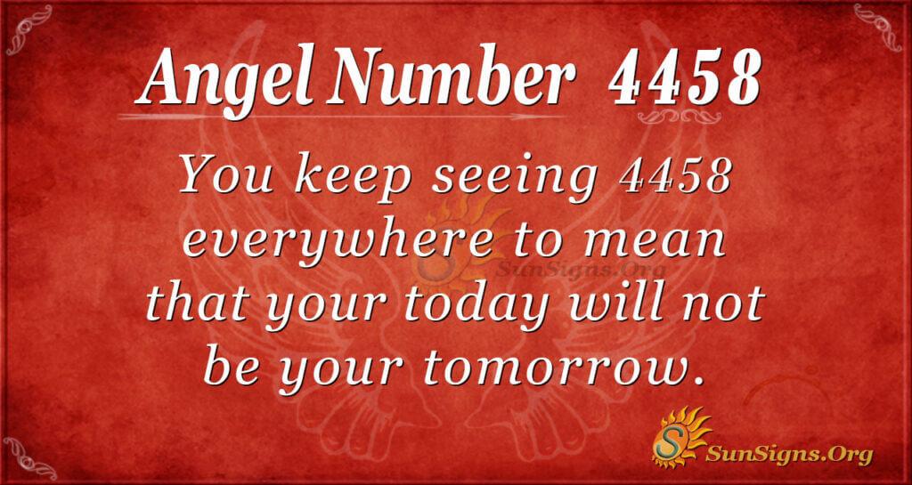 4458 angel number