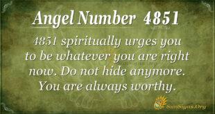4851 angel number