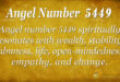 5449 angel number