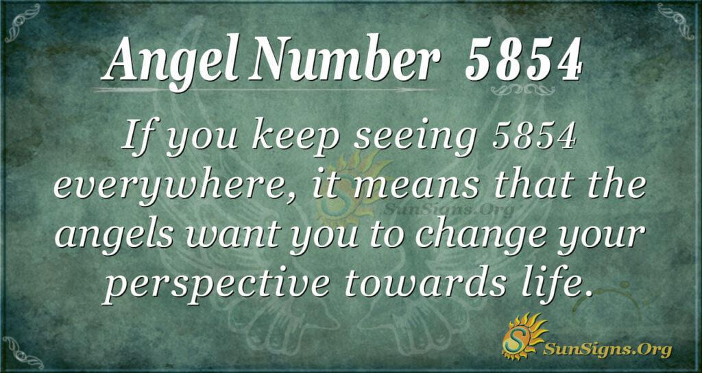 5854 angel number