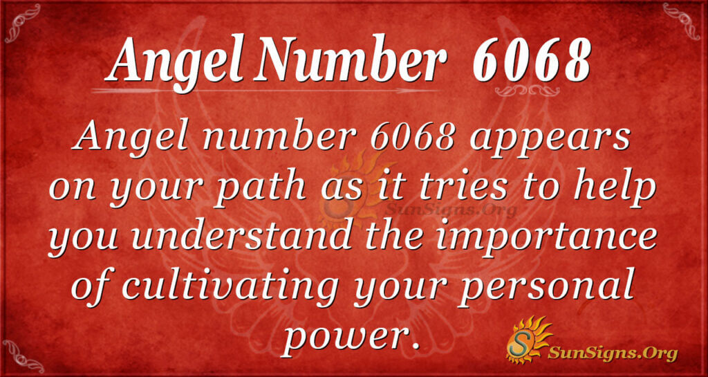 6068 angel number