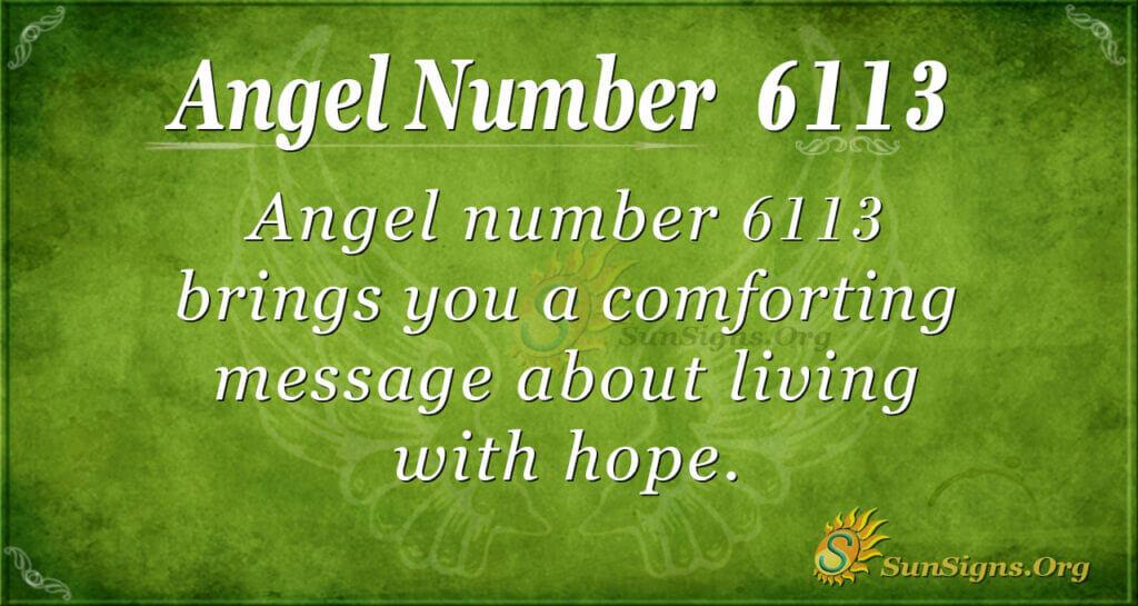 6113 angel number