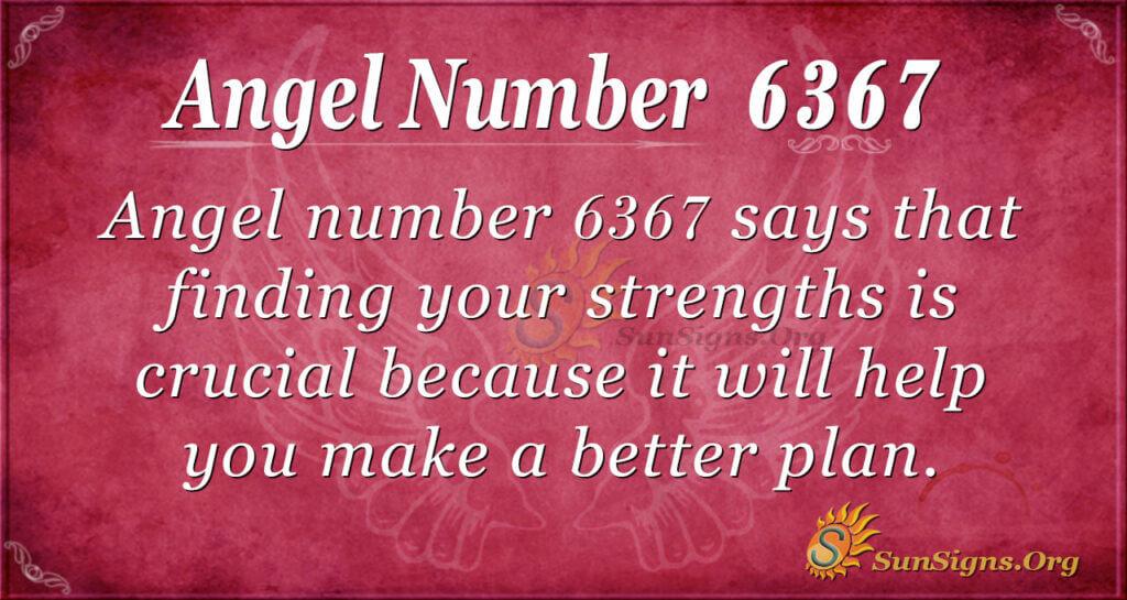 6367 angel number