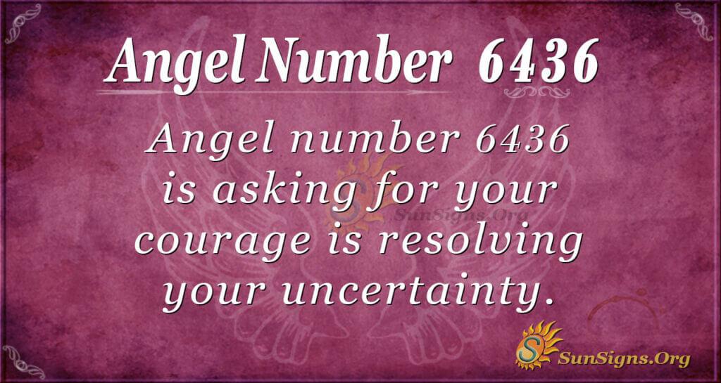 6436 angel number