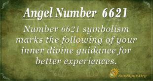 6621 angel number