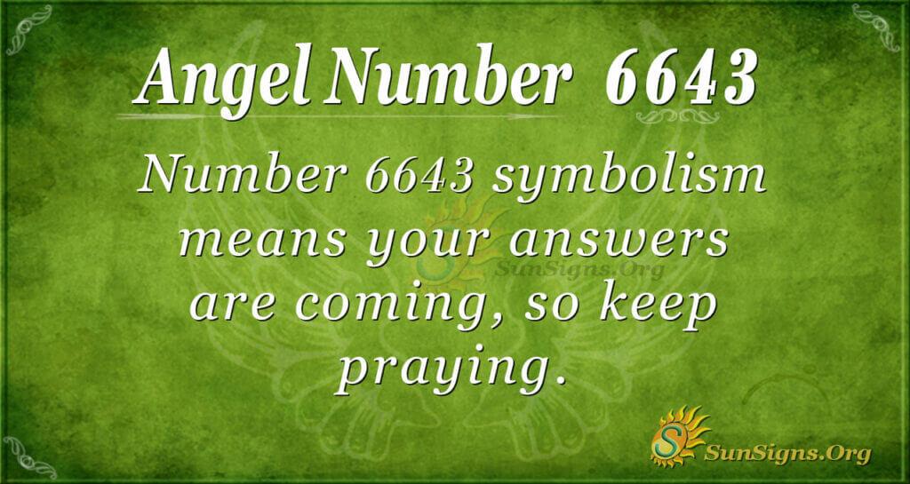 6643 angel number