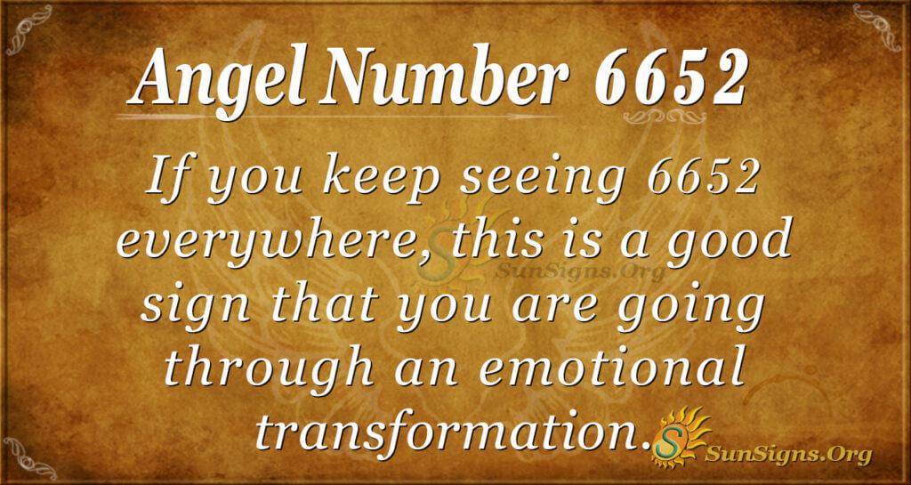 6652 angel number