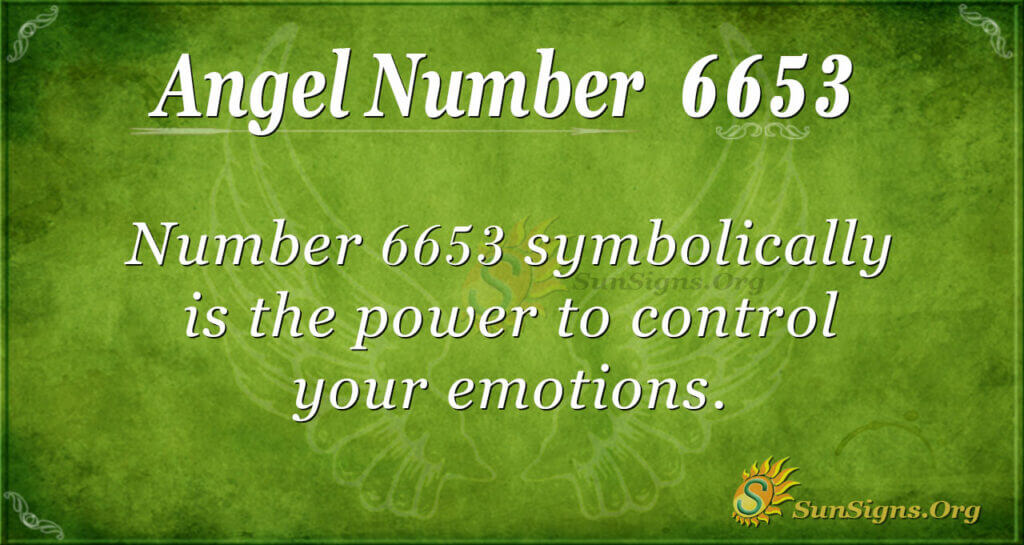 6653 angel number