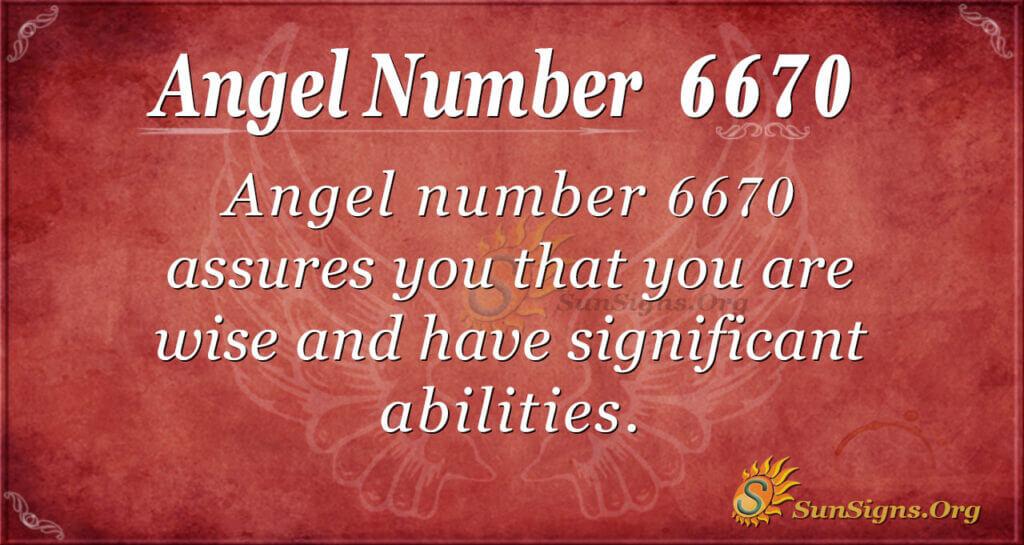 6670 angel number