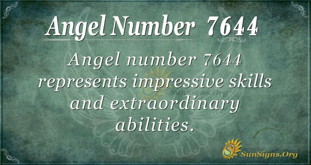 7644 angel number