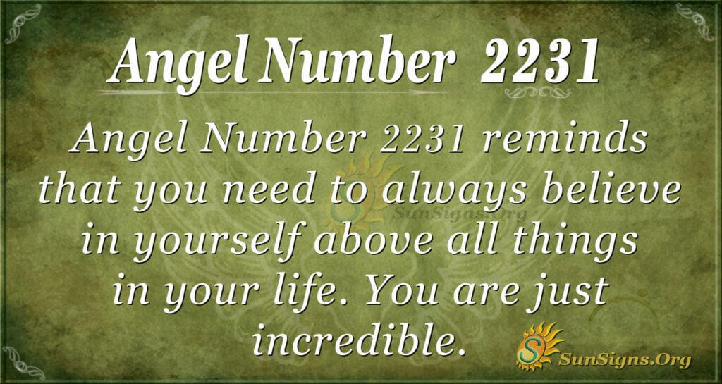 2231 angel number