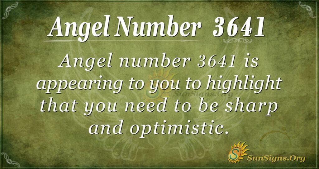 3641 angel number