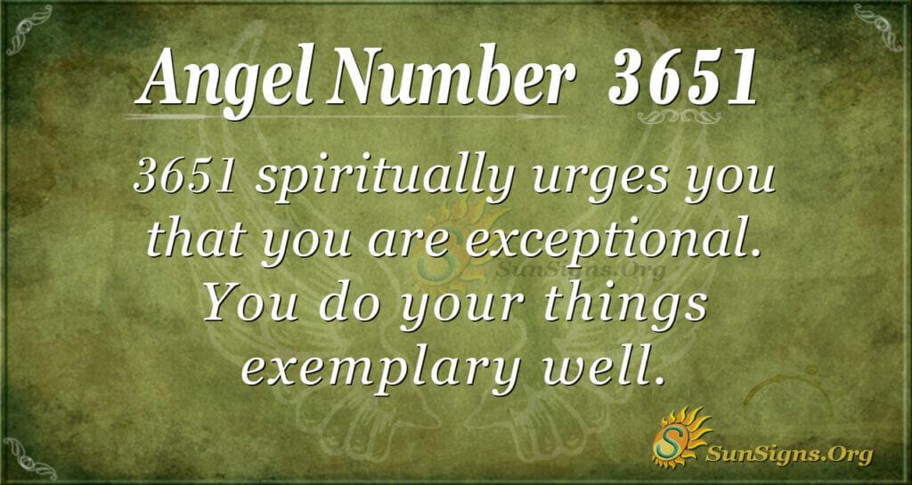3651 angel number