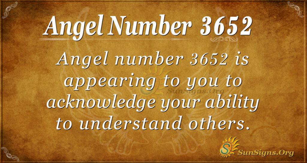 3652 angel number