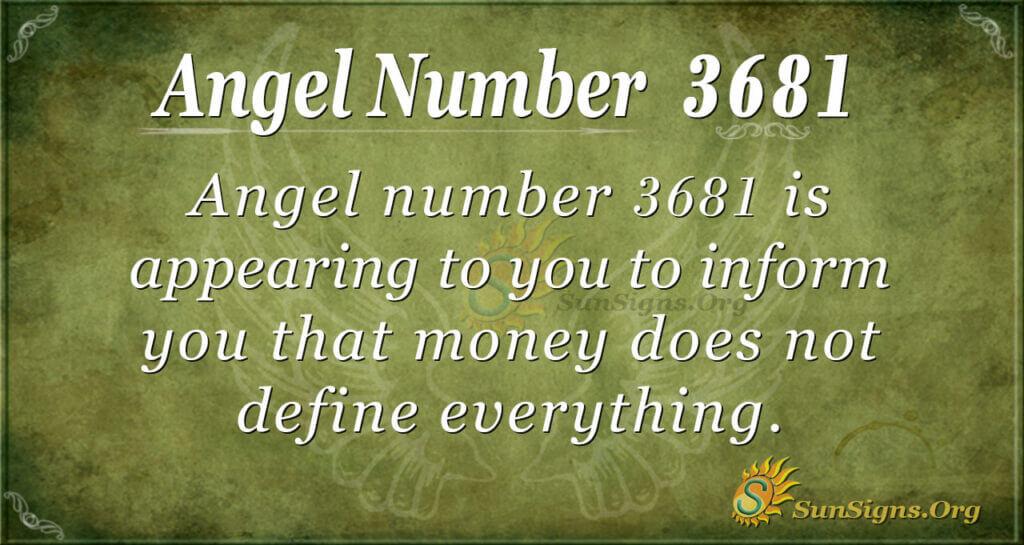 3681 angel number