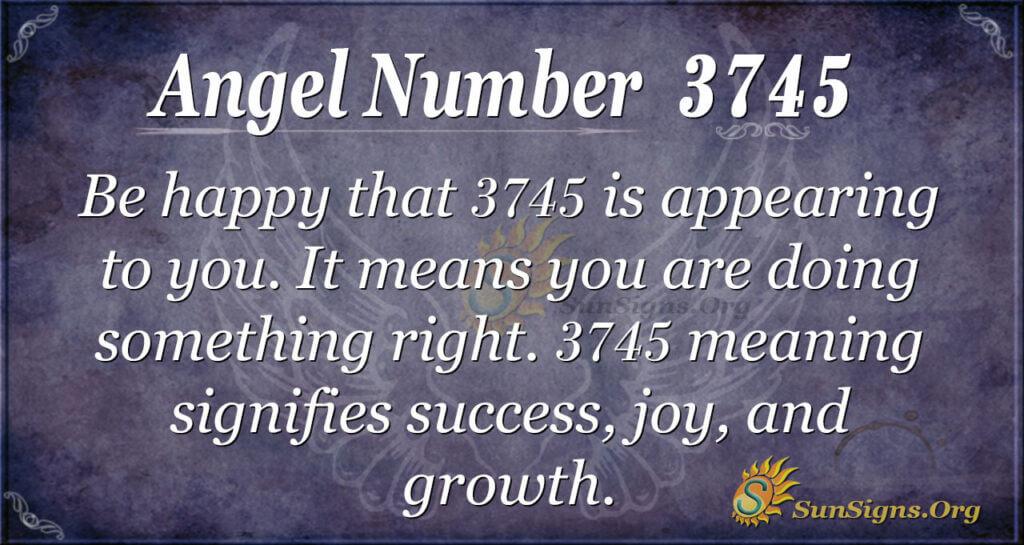 3745 angel number