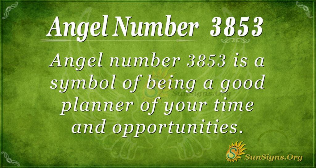 3853 angel number