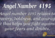 4195 angel number