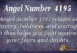 4195 angel number