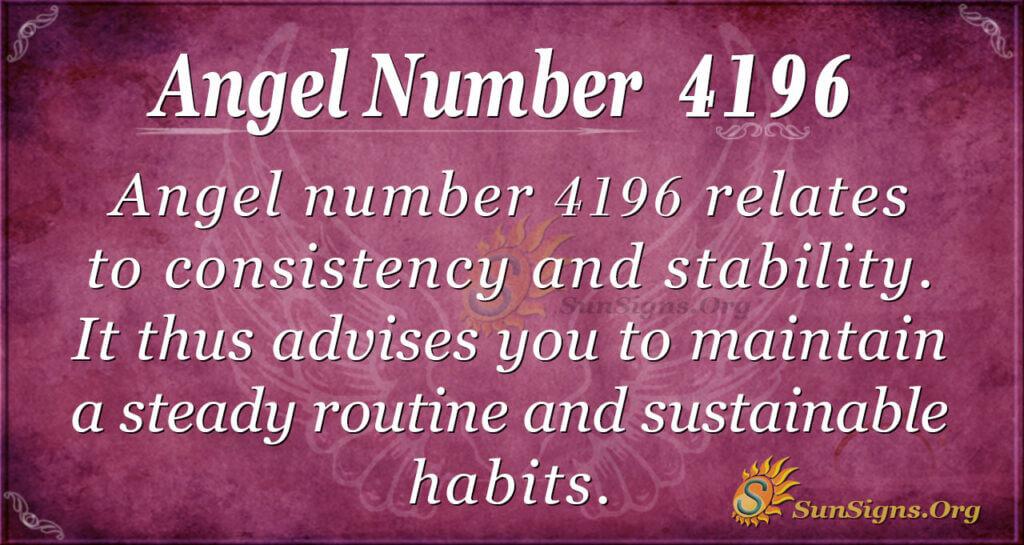 4196 angel number