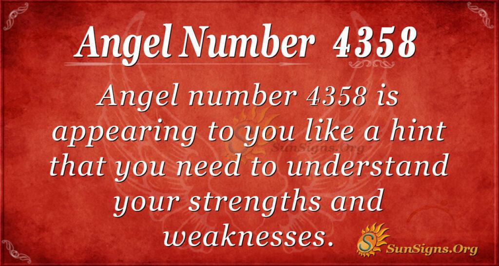 4358 angel number