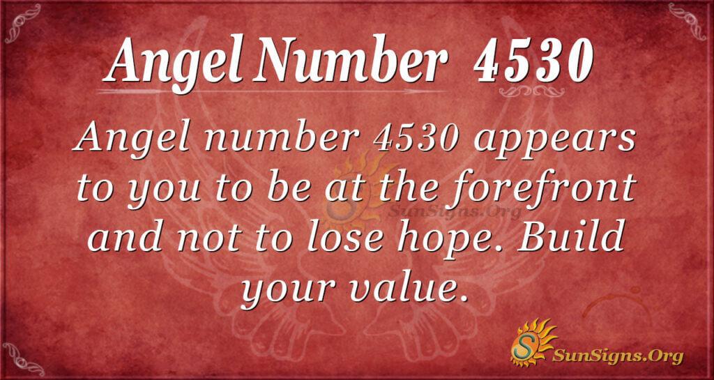 4530 angel number