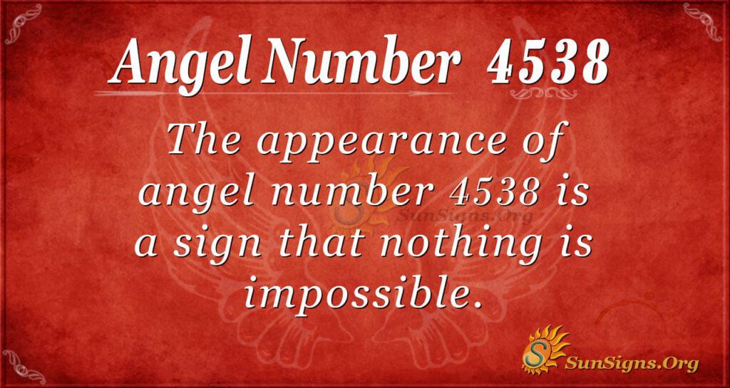 4538 angel number