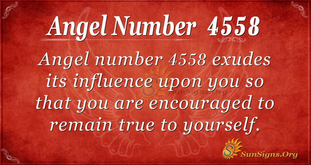 4558 angel number