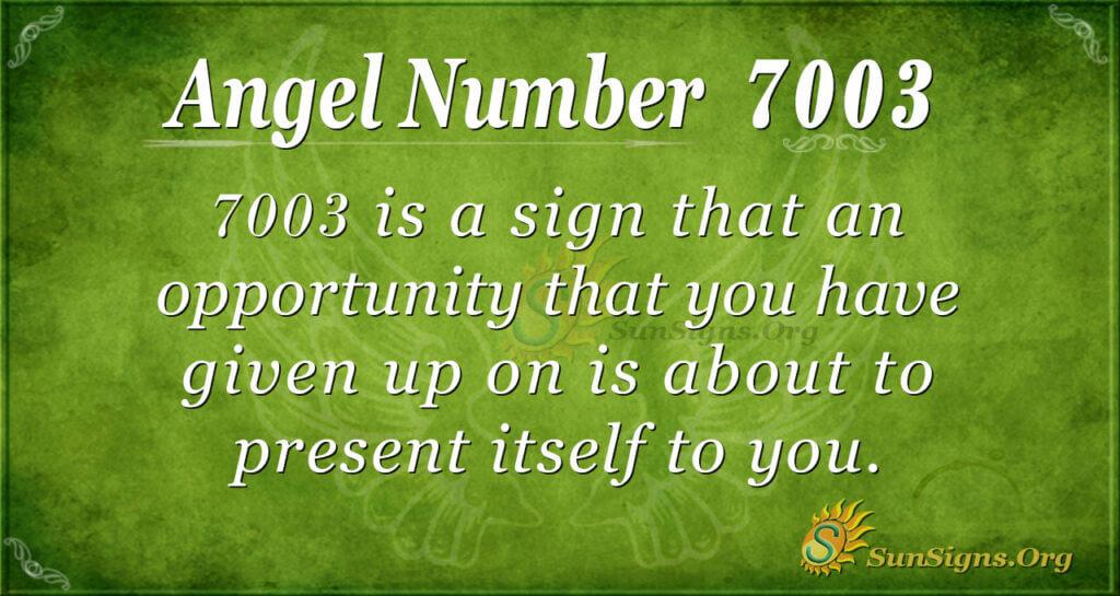 7003 angel number