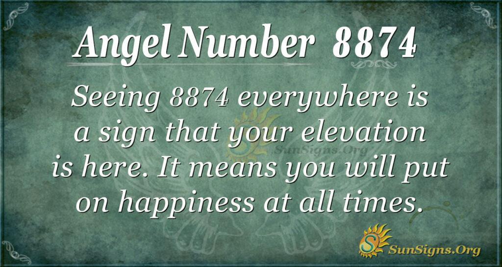 8874 angel number