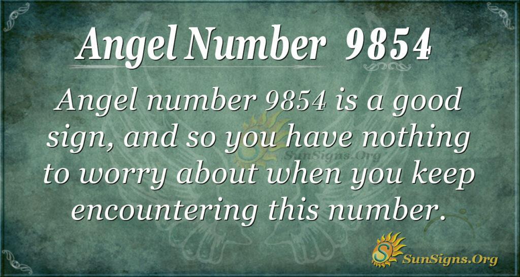 9854 angel number