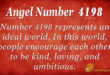4198 angel number