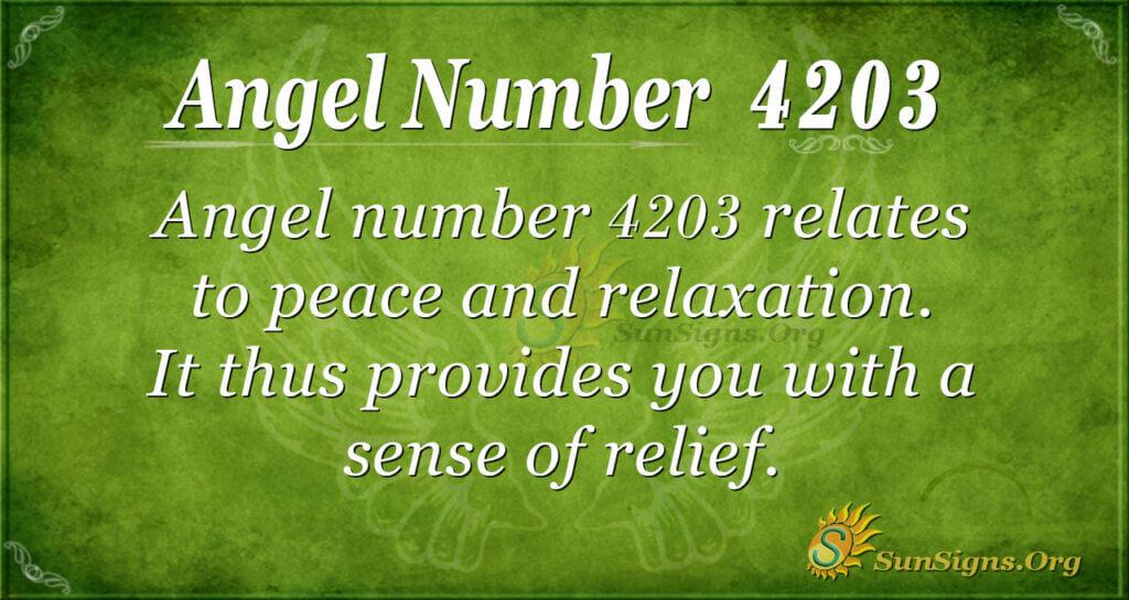 4203 angel number