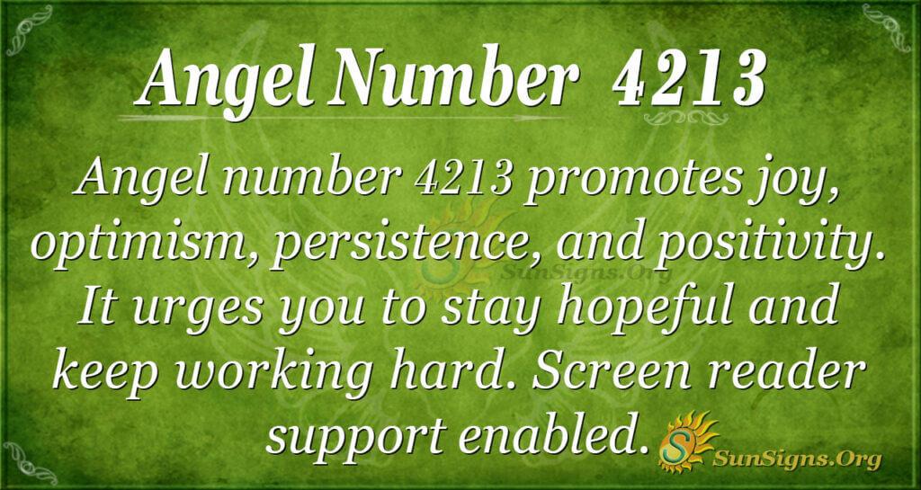 4213 angel number