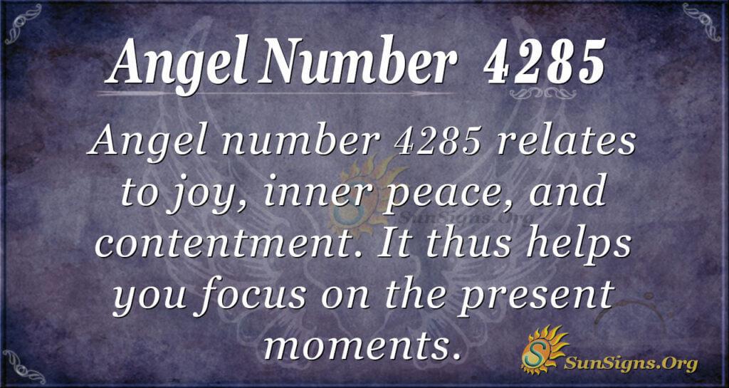 4285 angel number