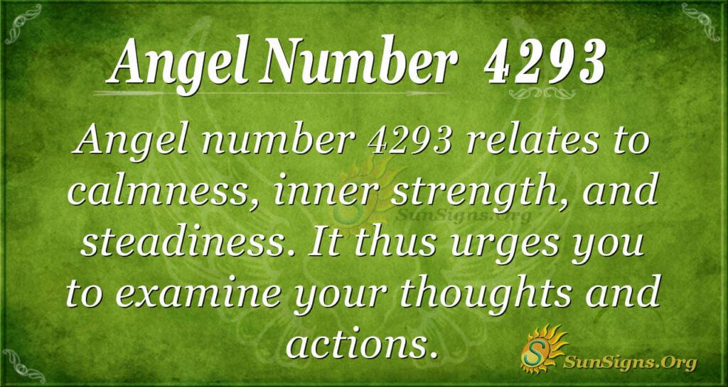 4293 angel number