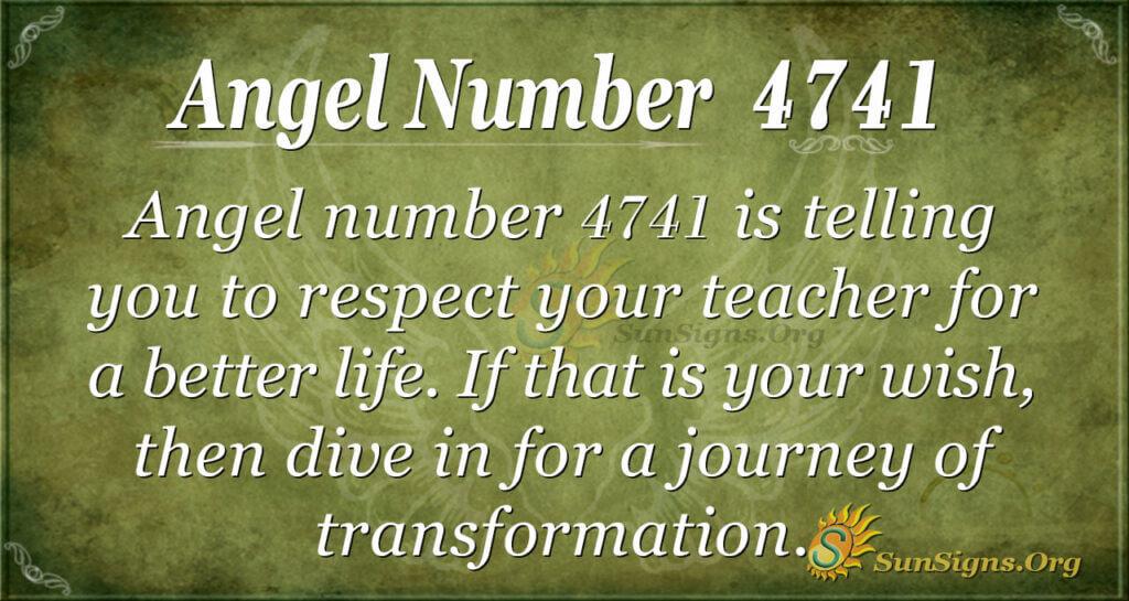 4741 angel number