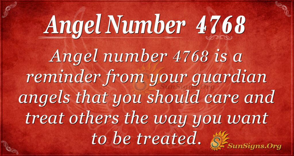 4768 angel number