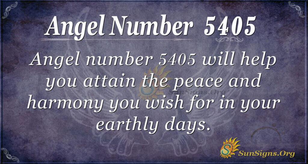 5405 angel number