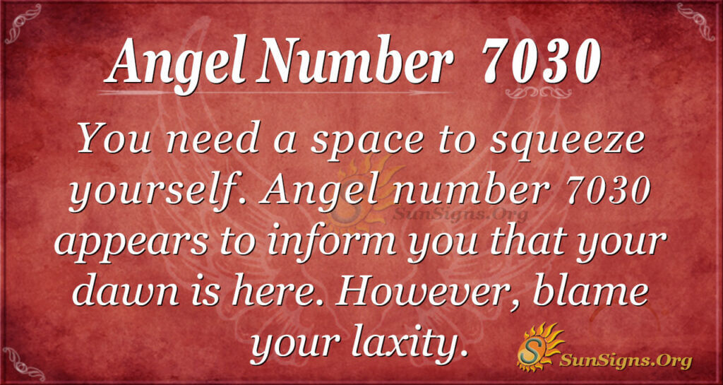 7030 angel number