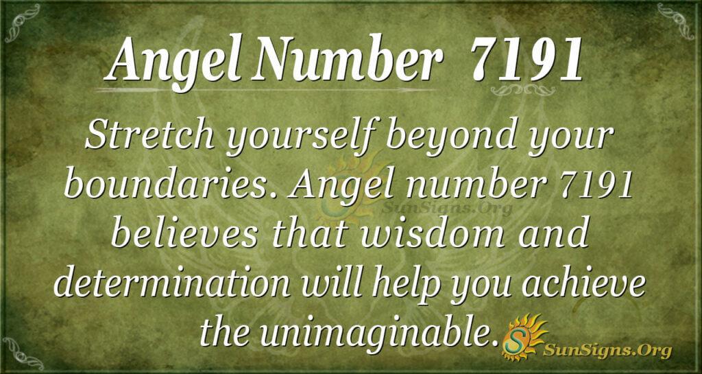 7191 angel number
